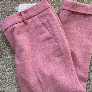 J Crew Pink Wool Capri Pant